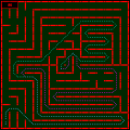 The maze for the RoboTIC 2011 micromouse contest finals