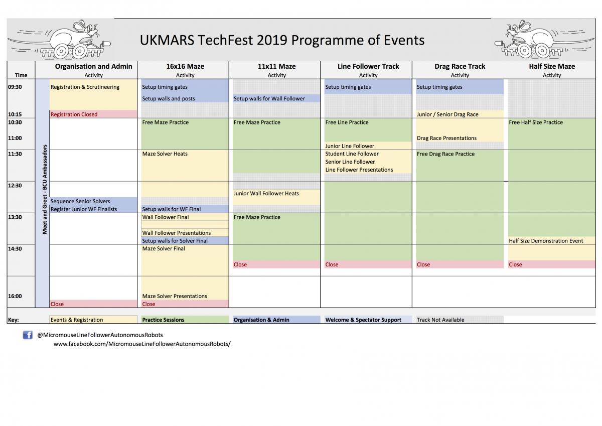 Techfest 2019 programme